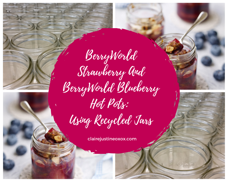 BerryWorld Strawberry And BerryWorld Blueberry Hot Pots: Using Recycled Jars