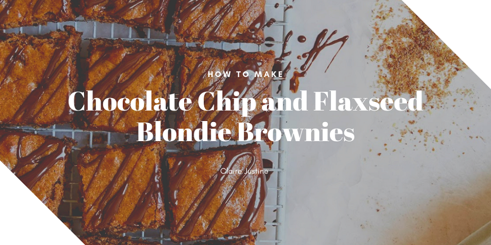 How To Make Chocolate Chip and Flaxseed Blondie Brownies