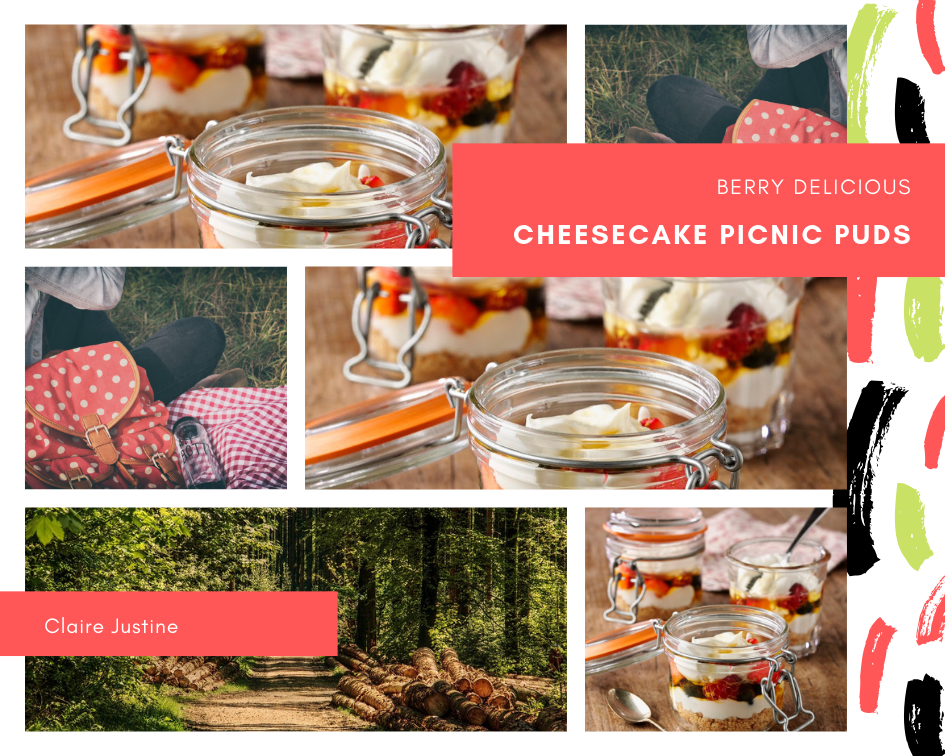 Berry Delicious Cheesecake Picnic Puds