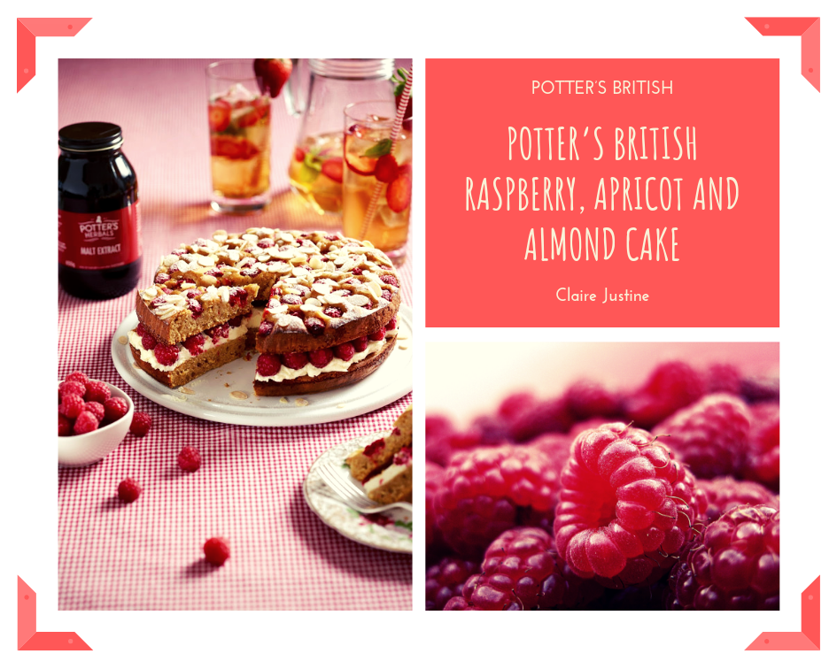 Potter's British Raspberry, Apricot And Almond Cake