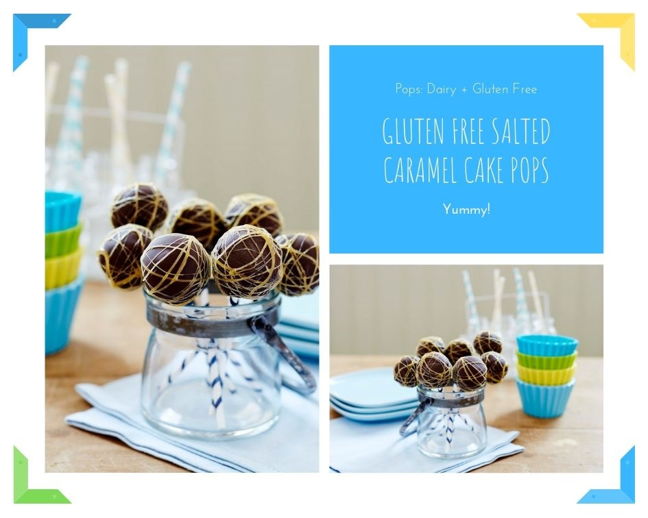 Gluten Free Salted Caramel Cake Pops: Dairy + G/Free