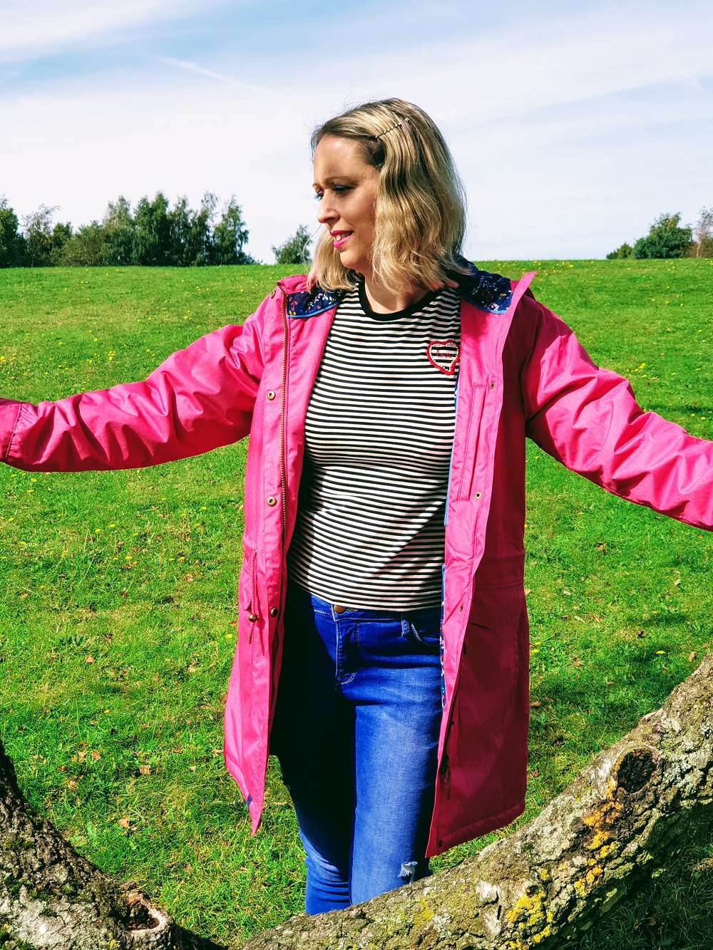Welcoming Autumn In With A Lighthouse Pink Raincoat