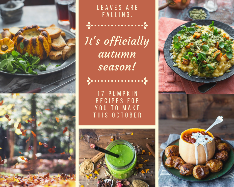 17 Tasty Pumpkin Recipes For You To Try This October