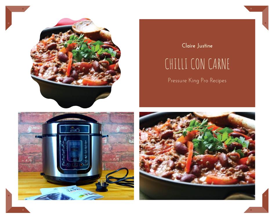 Pressure King Pro Recipes:  Chilli Con Carne