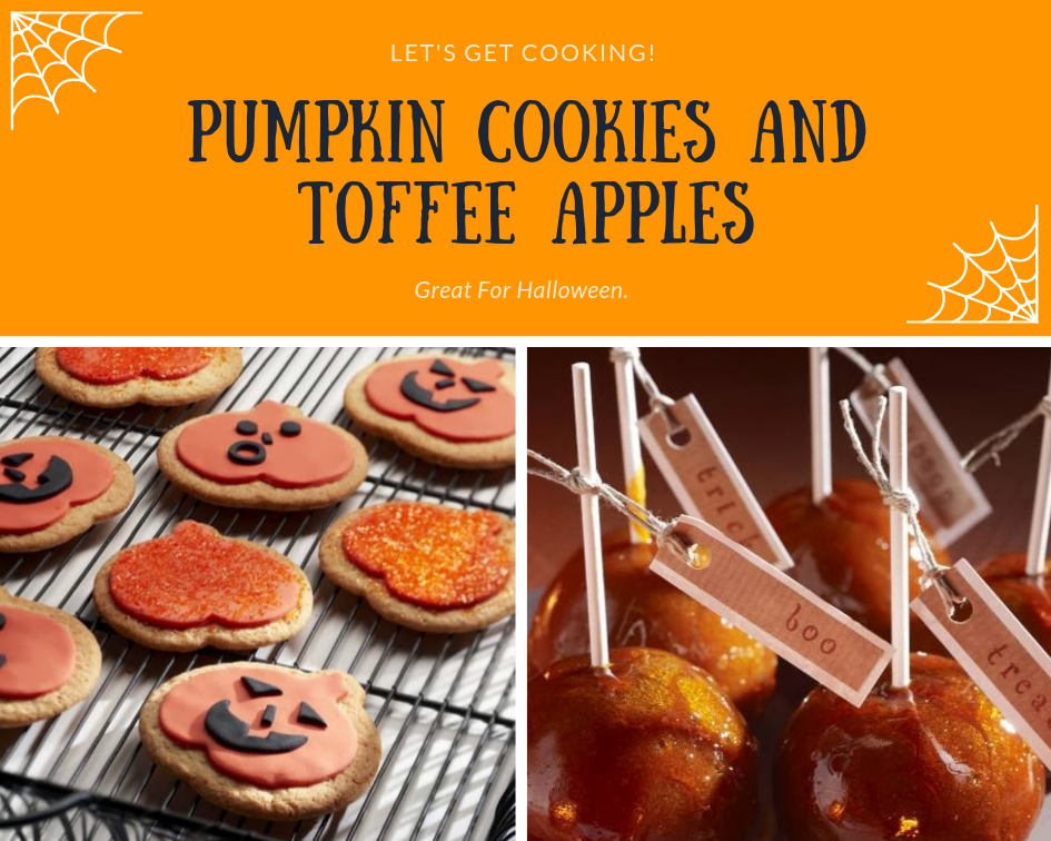 Pumpkin Cookies And Toffee Apples: Great For Halloween