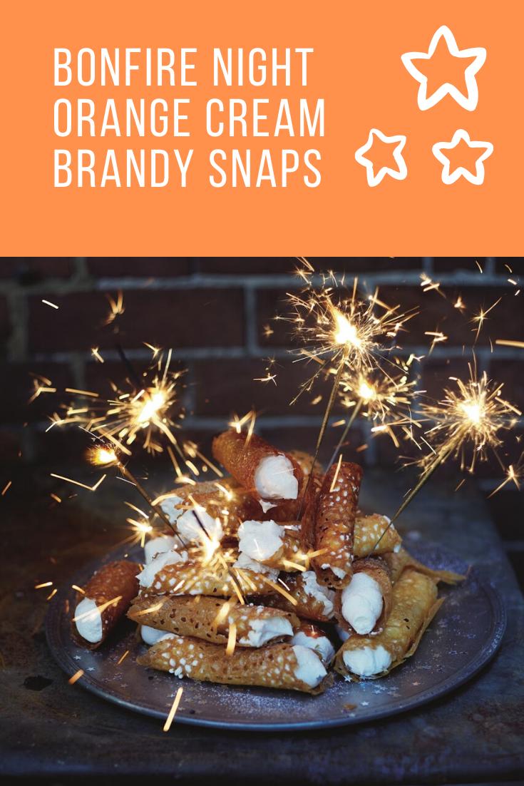 Bonfire Night Orange Cream Brandy Snaps: