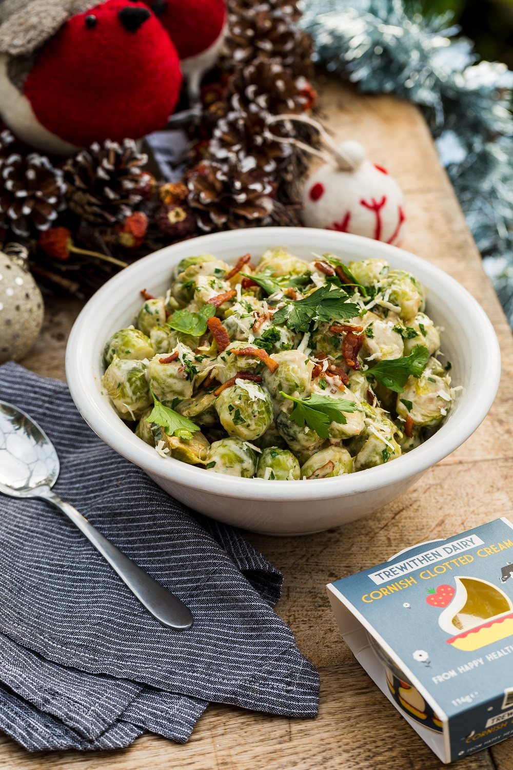 Sautéed Brussels Sprouts With Trewithen Clotted