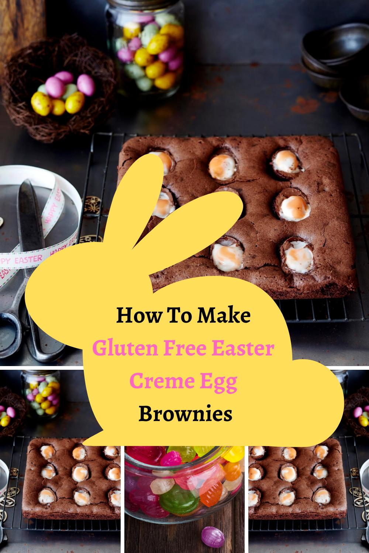 Gluten Free Easter Creme Egg Brownies