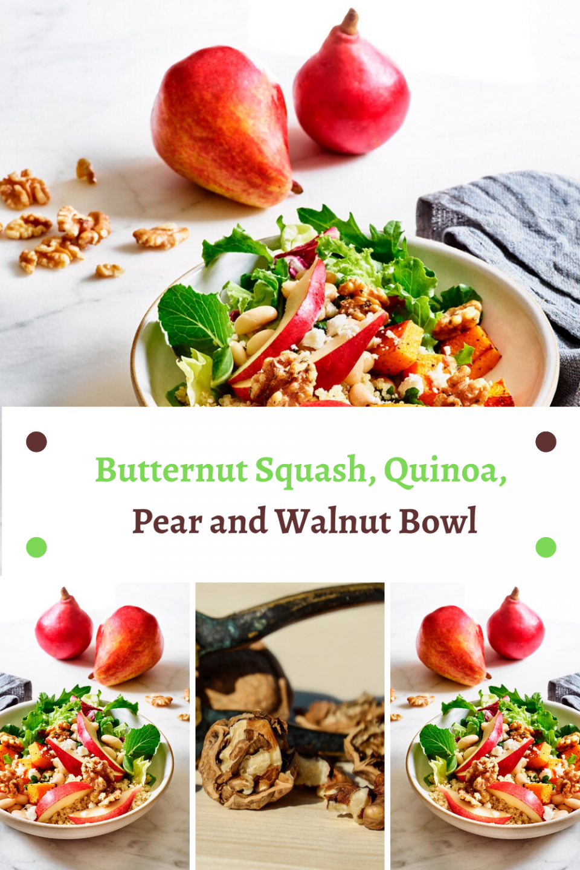 Butternut Squash, Quinoa, Pear and Walnut Bowl