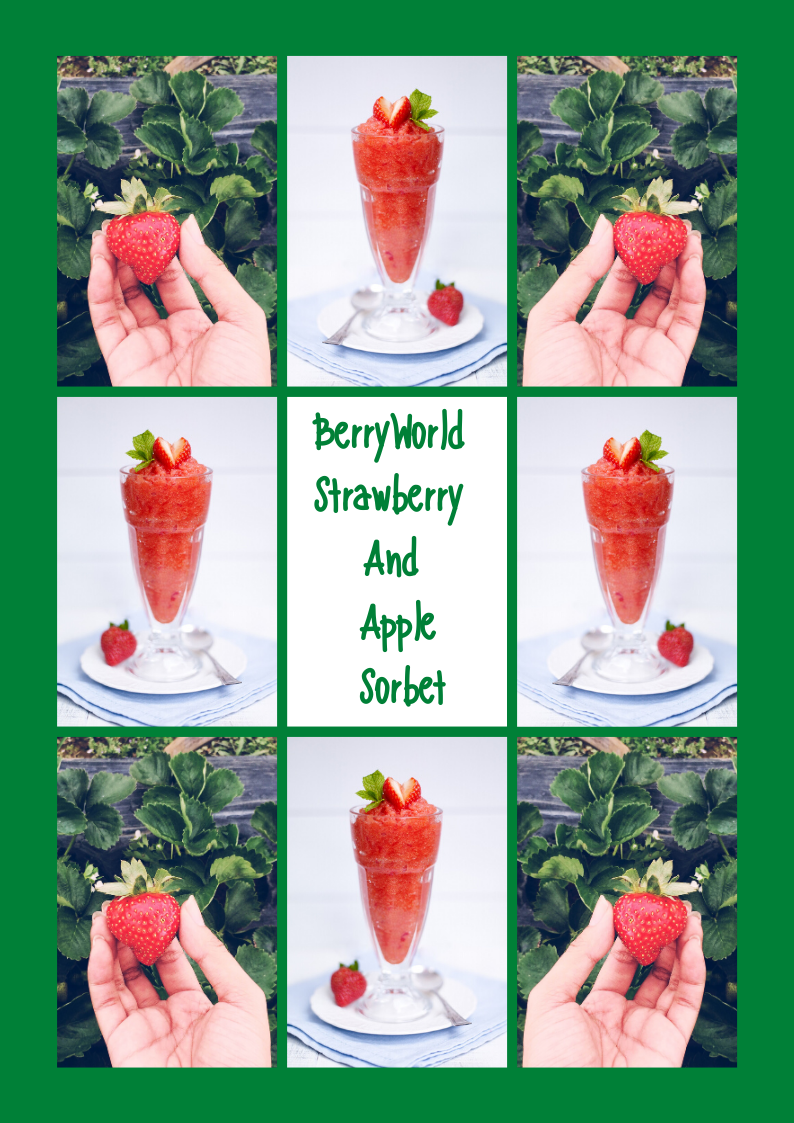 BerryWorld Strawberry And Apple Sorbet Recipe To Try Out On Strawberry Day.