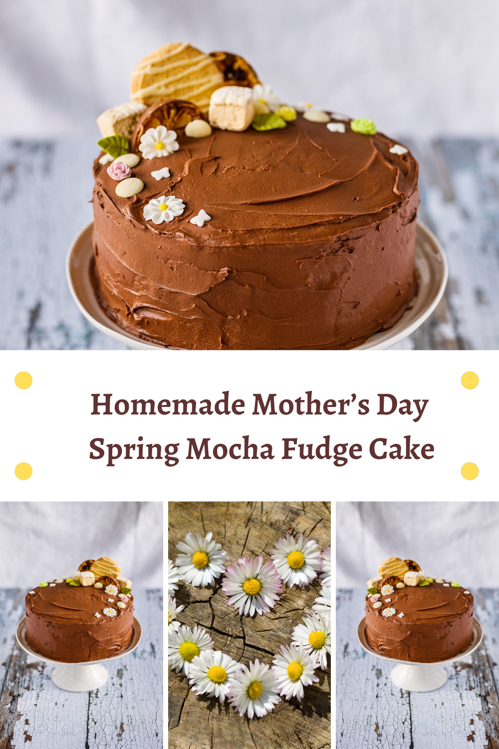 Homemade Mother's Day Spring Mocha Fudge Cake