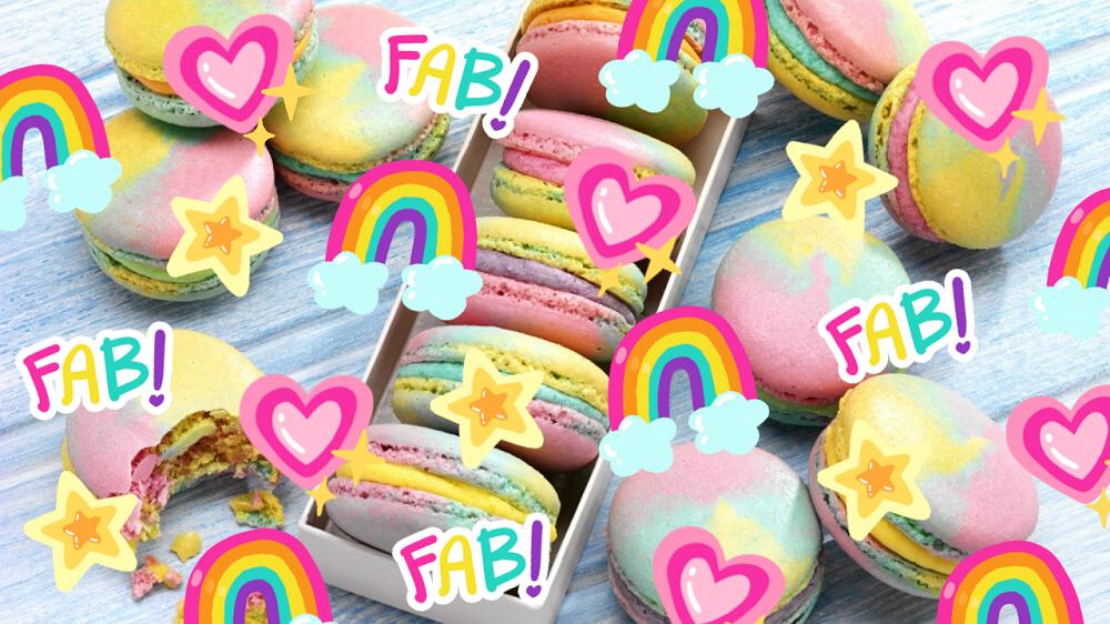 How To Make Rainbow Macarons:
