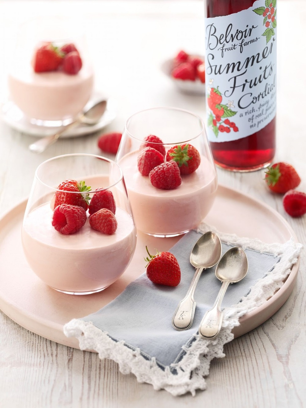 Strawberry And Raspberry Mousse: