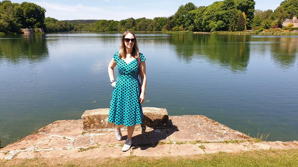 Turquoise Polka Dot Dress