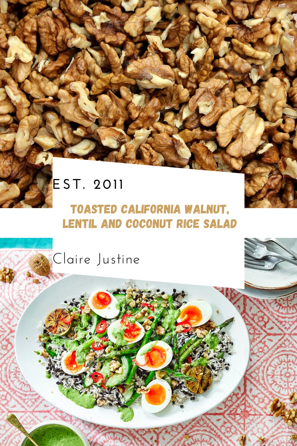 Toasted California Walnut, Lentil And Coconut Rice