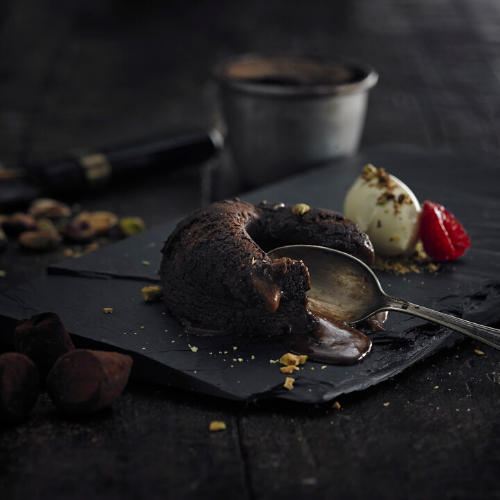 Pistachio Marooned Hot Chocolate Fondant