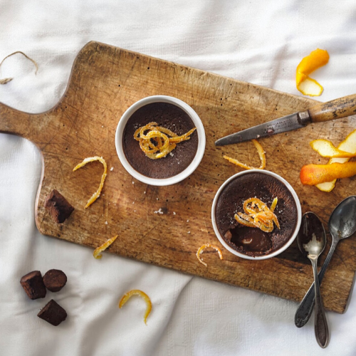 Orange Angelical Chocolate Pots