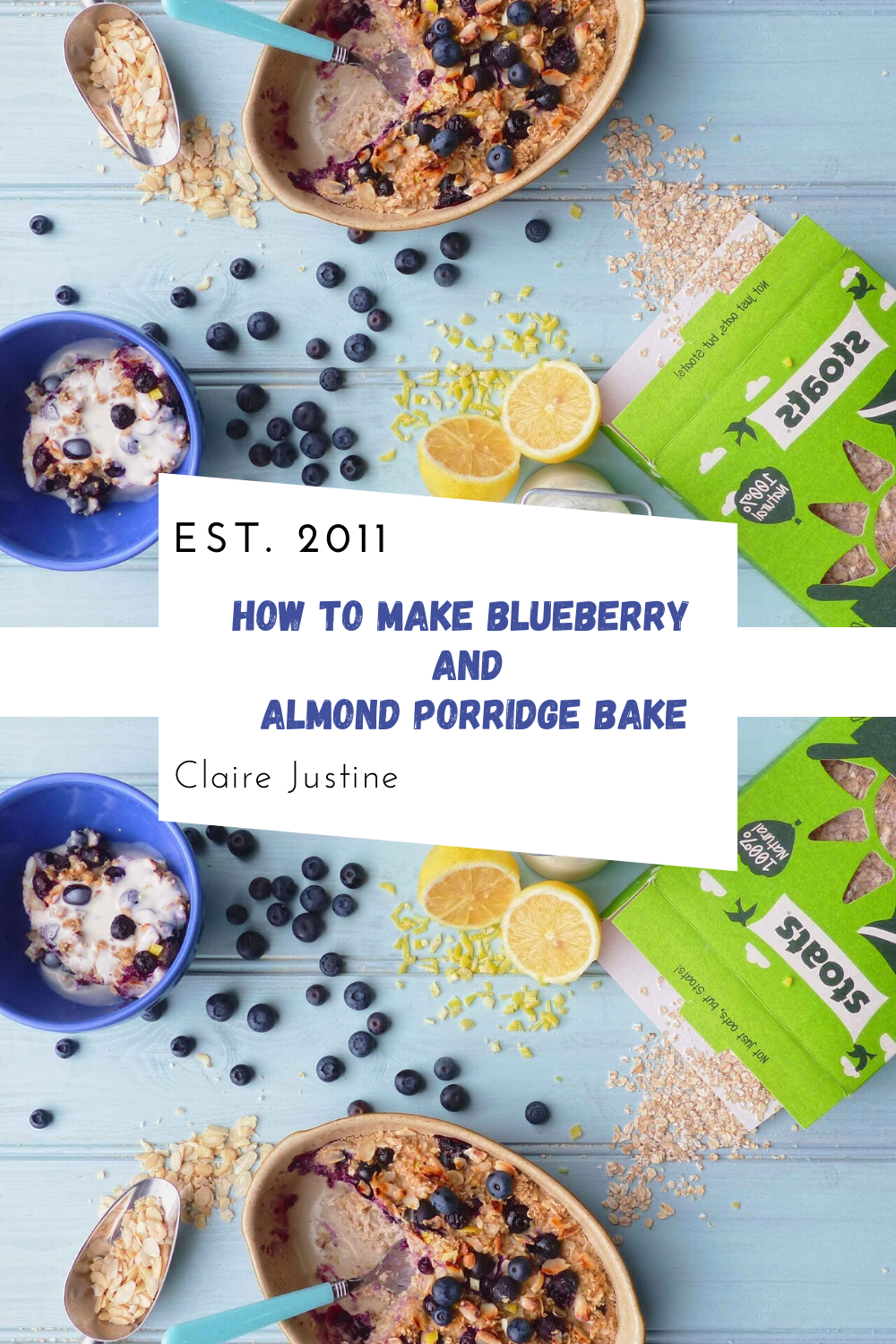 How To Make Blueberry And Almond Porridge Bake.