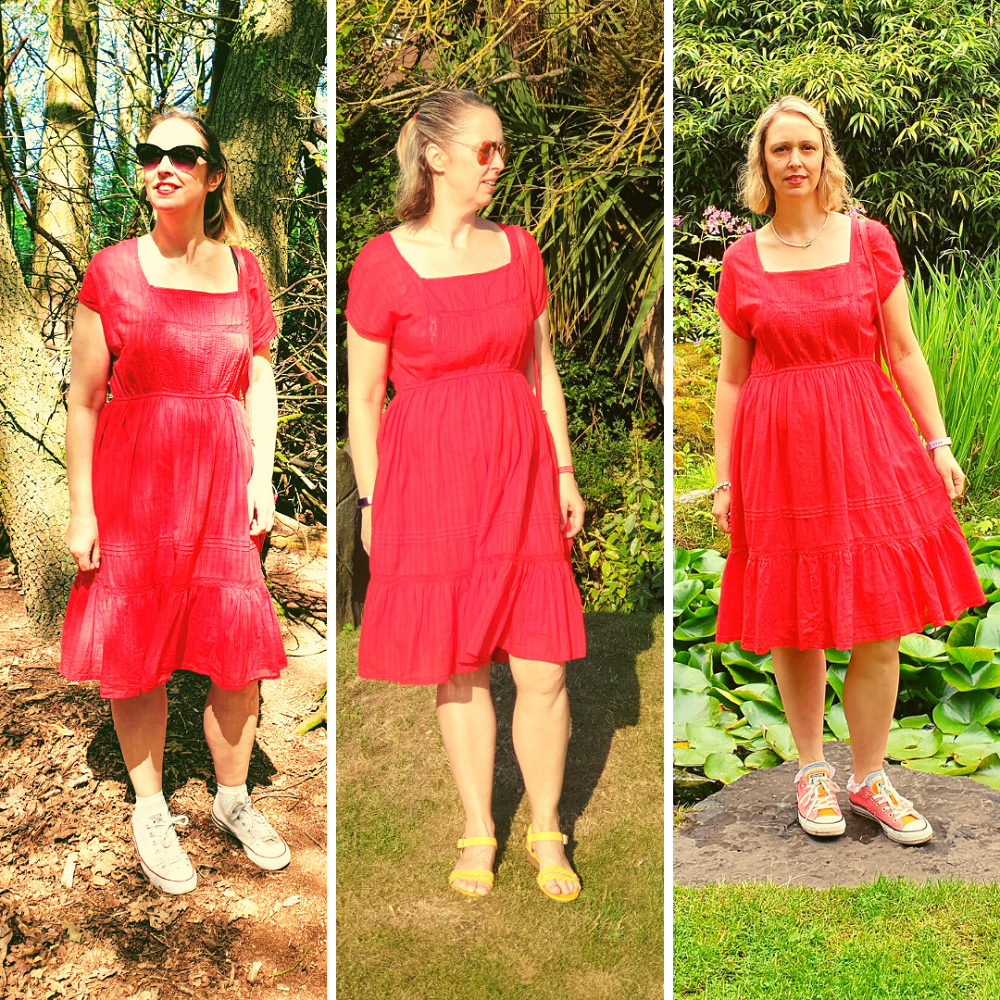1 Dress Styled With 3 Different Pairs Of Shoes