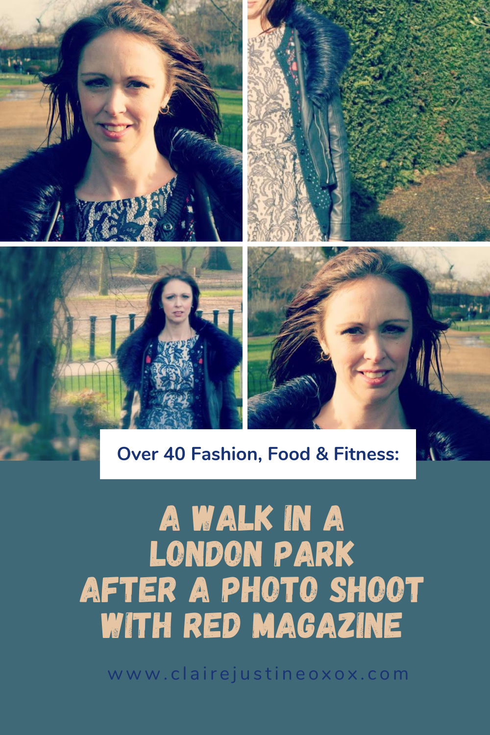 A Walk In A London Park After A Photo Shoot With Red Magazine.