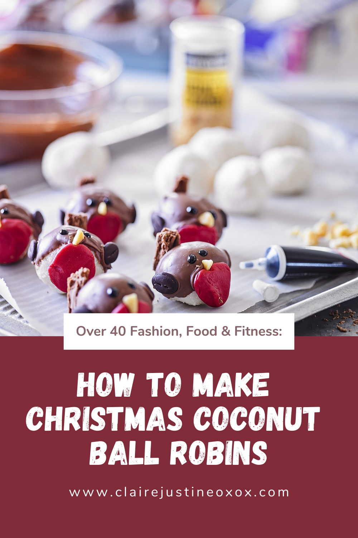 How To Make Christmas Coconut Ball Robins.