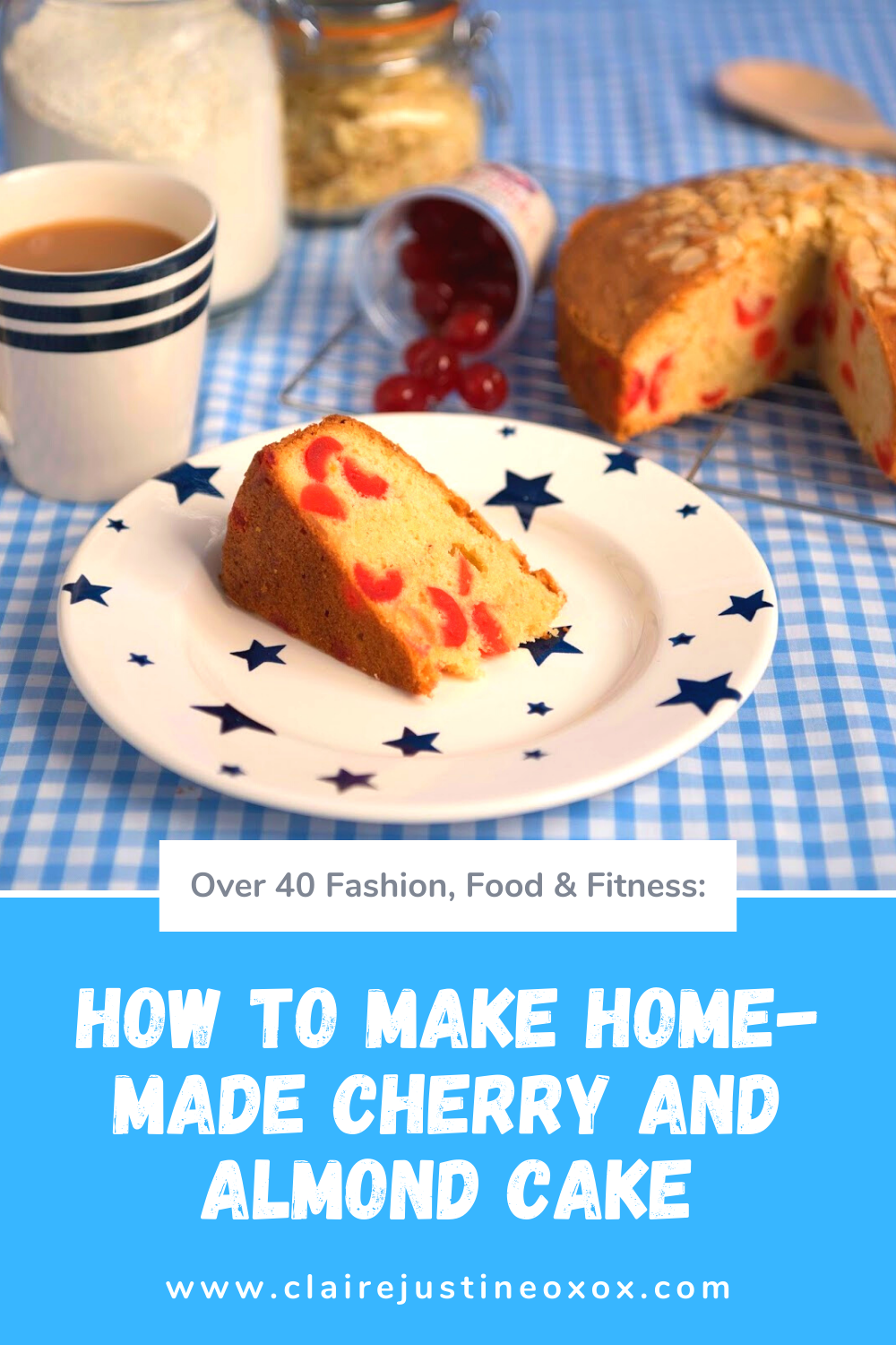 How To Make Home-made Cherry And Almond Cake