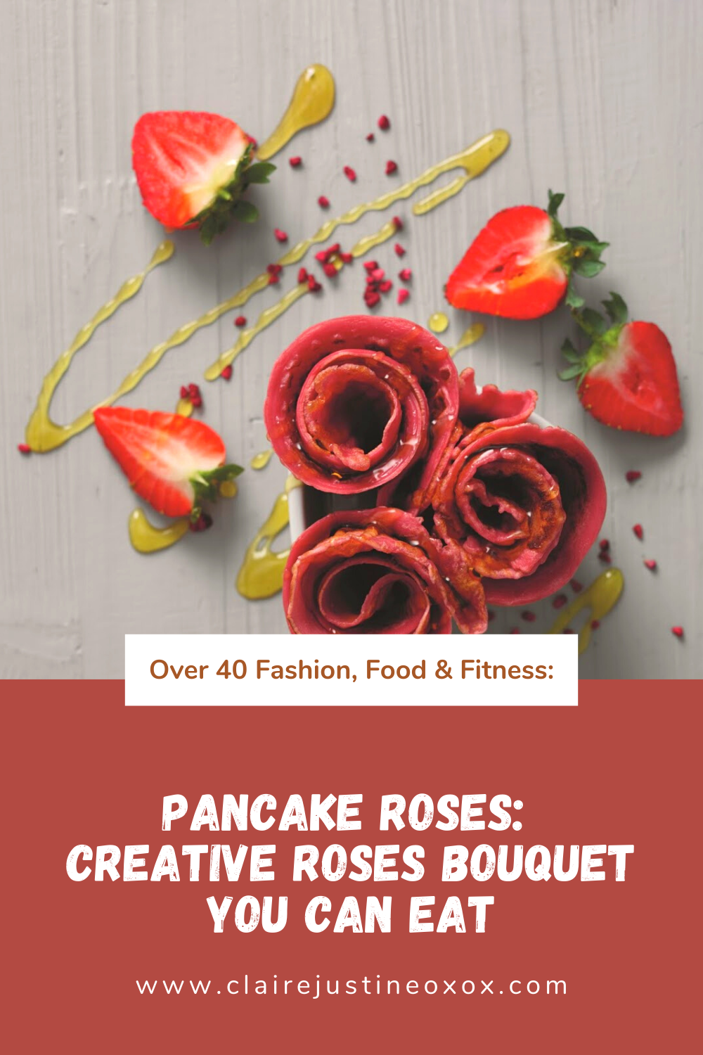 Pancake Roses: Creative Roses Bouquet You Can Eat.