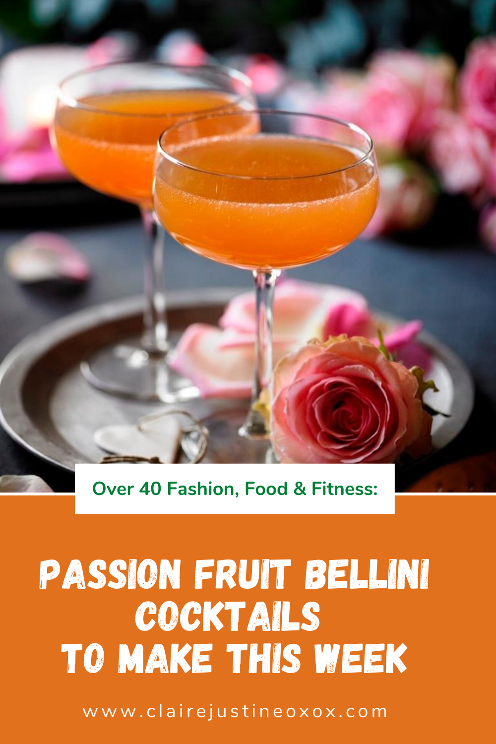 Passion Fruit Bellini Cocktails To Make This Week