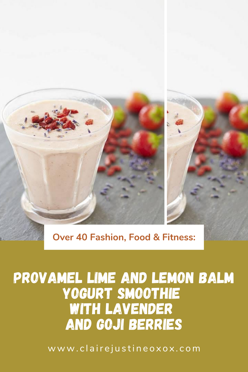 Provamel Lime And Lemon Balm Yogurt Smoothie With Lavender And Goji Berries