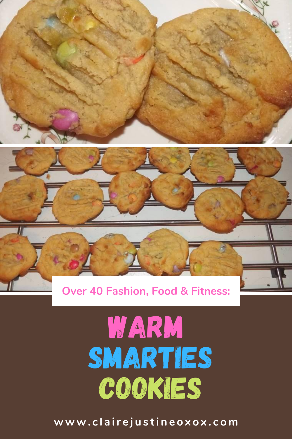 Warm Smarties Cookies