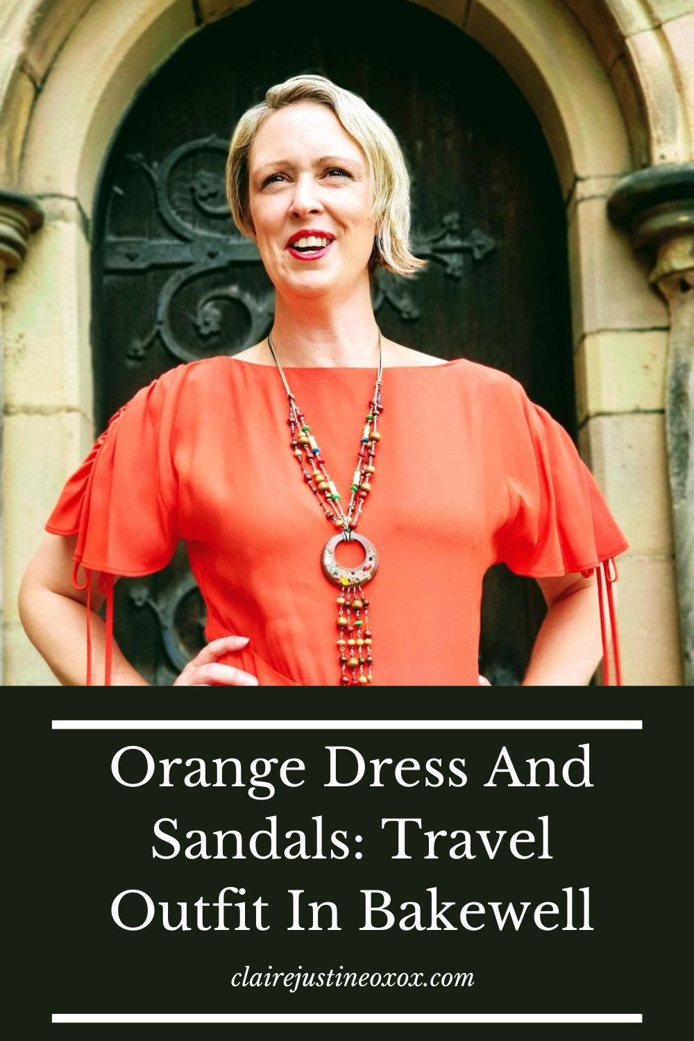 Orange Dress And Sandals: Throwback Thursday
