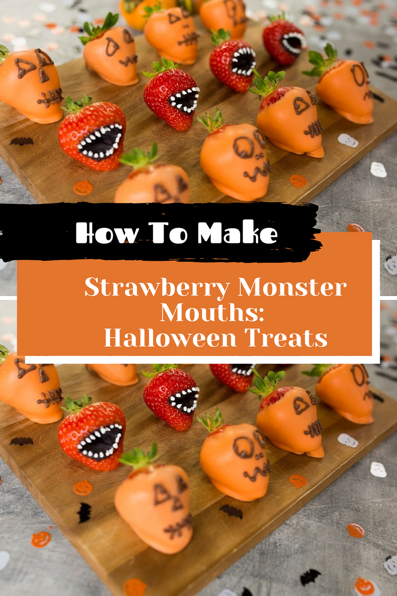 How To Make Strawberry Monster Mouths: Halloween Treats.