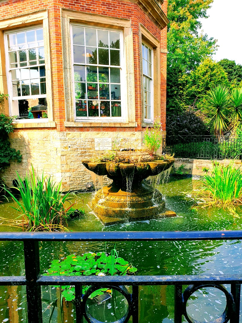 Orangery, fountain and garden wall at Rufford Abbey. What a lovely view from the orangery!?
