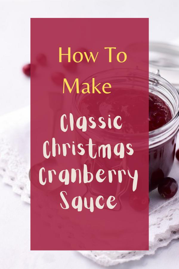 How to make crandberry sauce