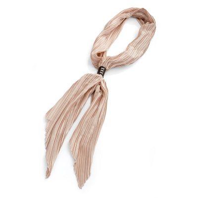 Cream Crinkle Look Tie Scarf UK Buy