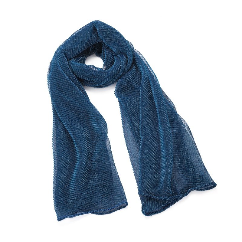 Beautiful Metallic Blue Colour Scarf