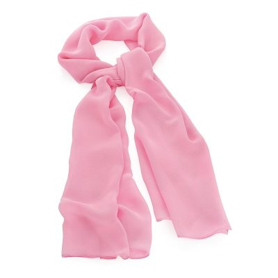 Pink Colour Chiffon Style Scarf