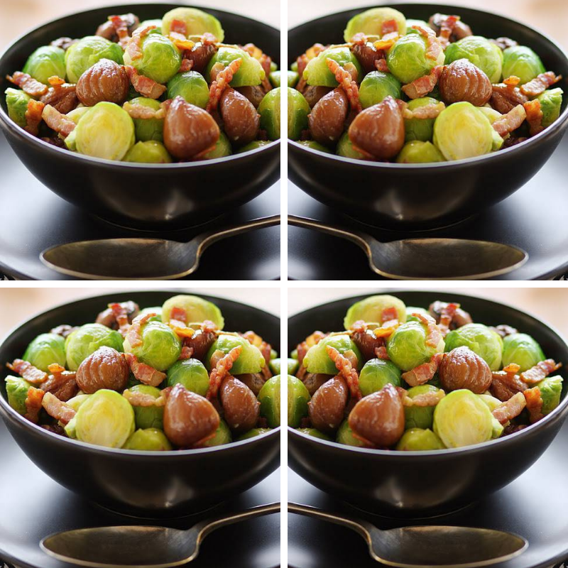 Brussels Sprouts with Bacon & Chestnuts: Christmas Sides