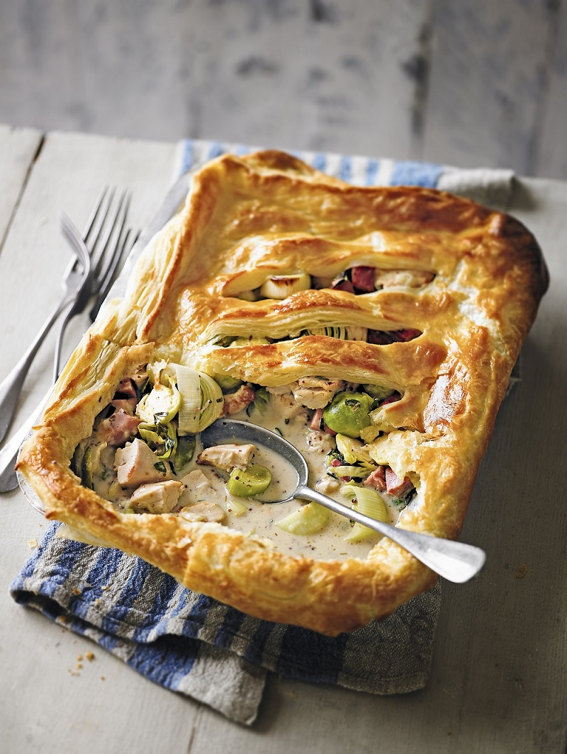 Turkey, Gammon And Sprout Pot Pie: