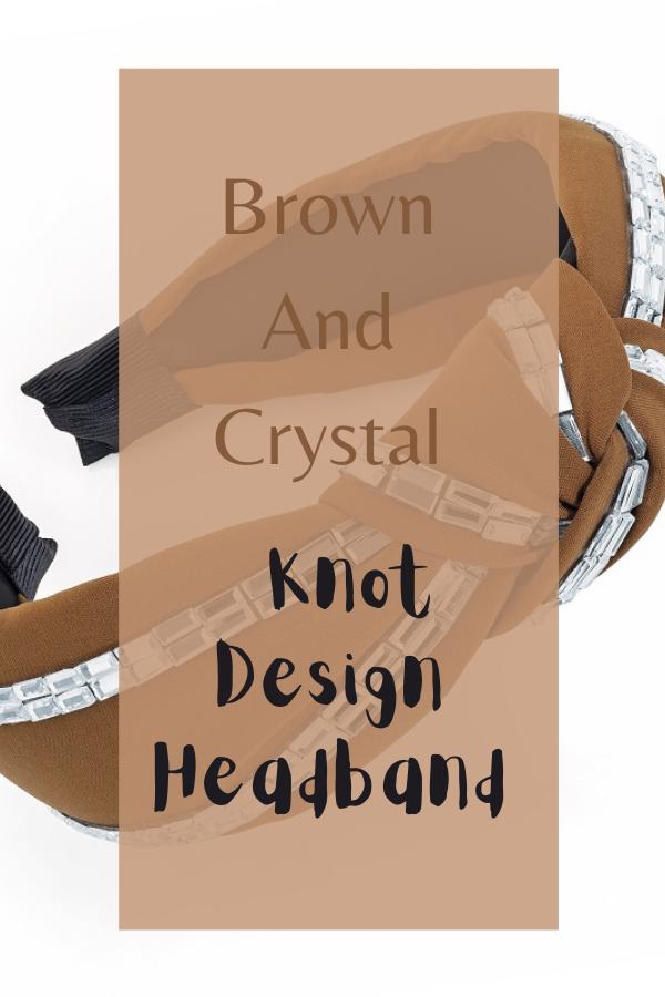 Brown And Crystal Knot Design Headband