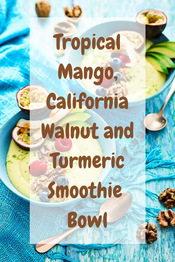 Tropical Mango, California Walnut and Turmeric Smoothie  Bowl