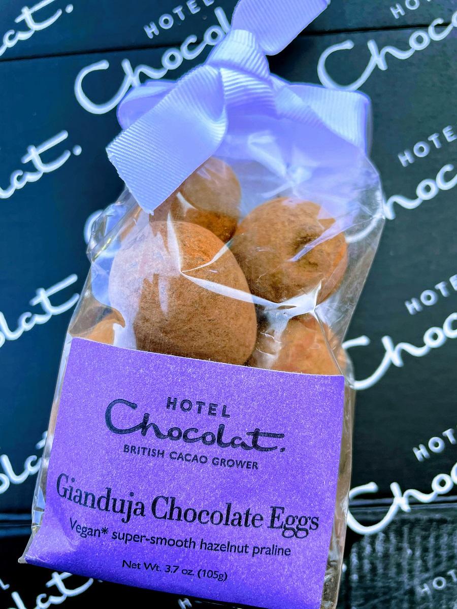 Gianduja Chocolate Eggs Vegan.