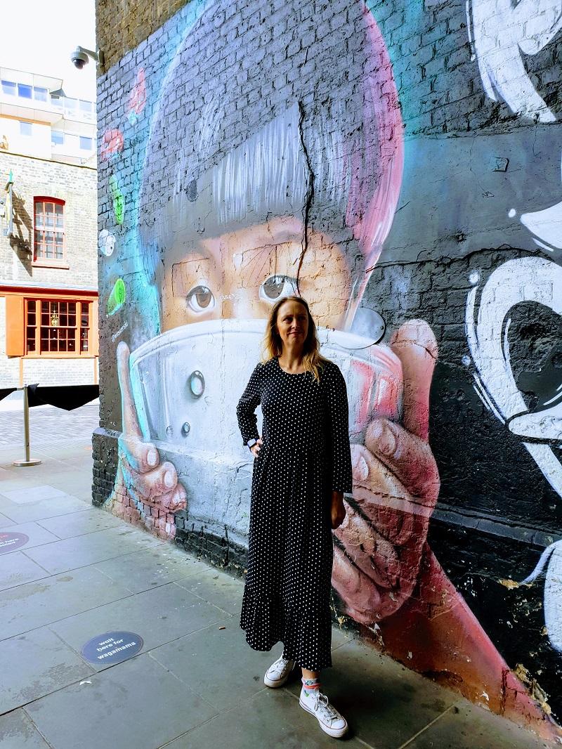 Polka Dot Maxi Dress And Some London Street Art