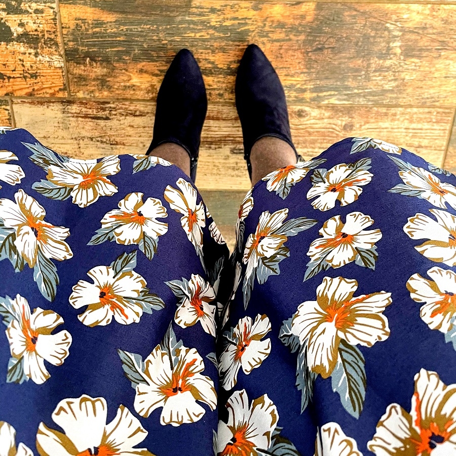swing dress with boots