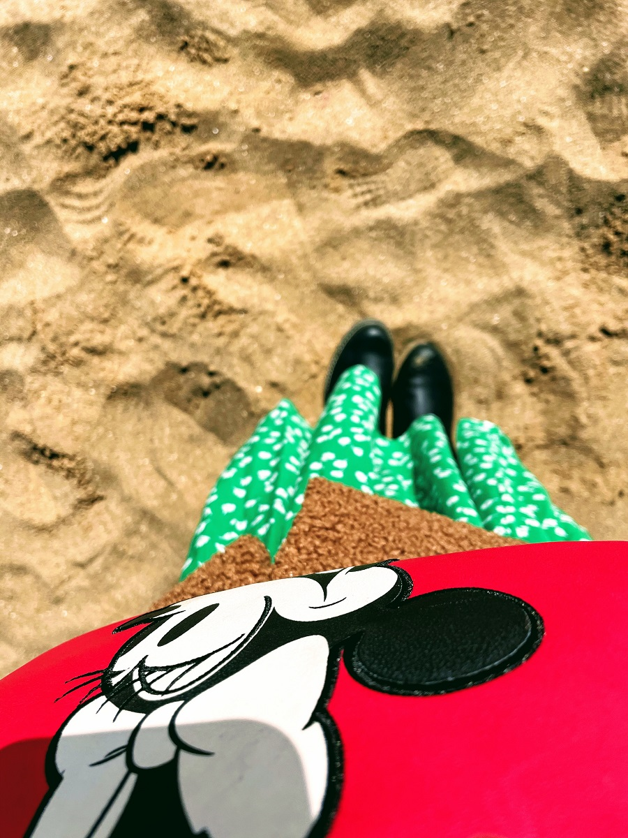 Green Floral Maxi Dress And A Visit To The Beach.