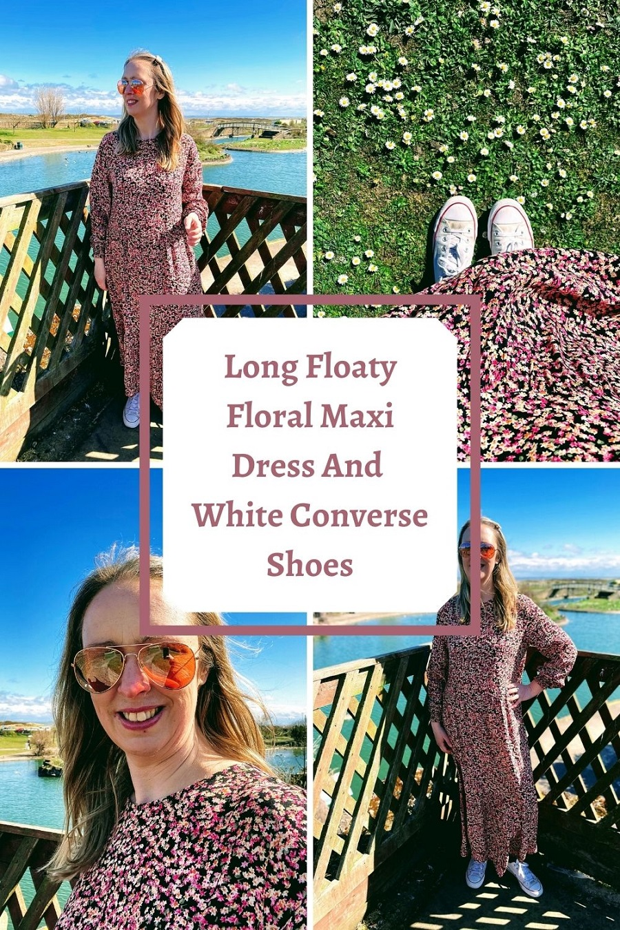 Dress And White Converse Shoes