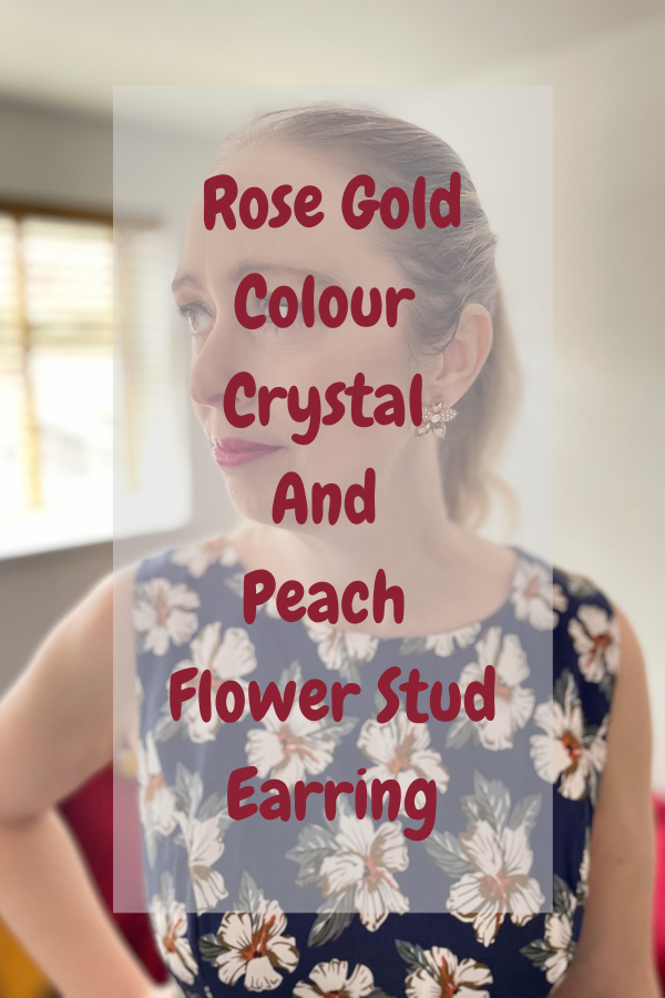 Peach Flower Stud Earring: