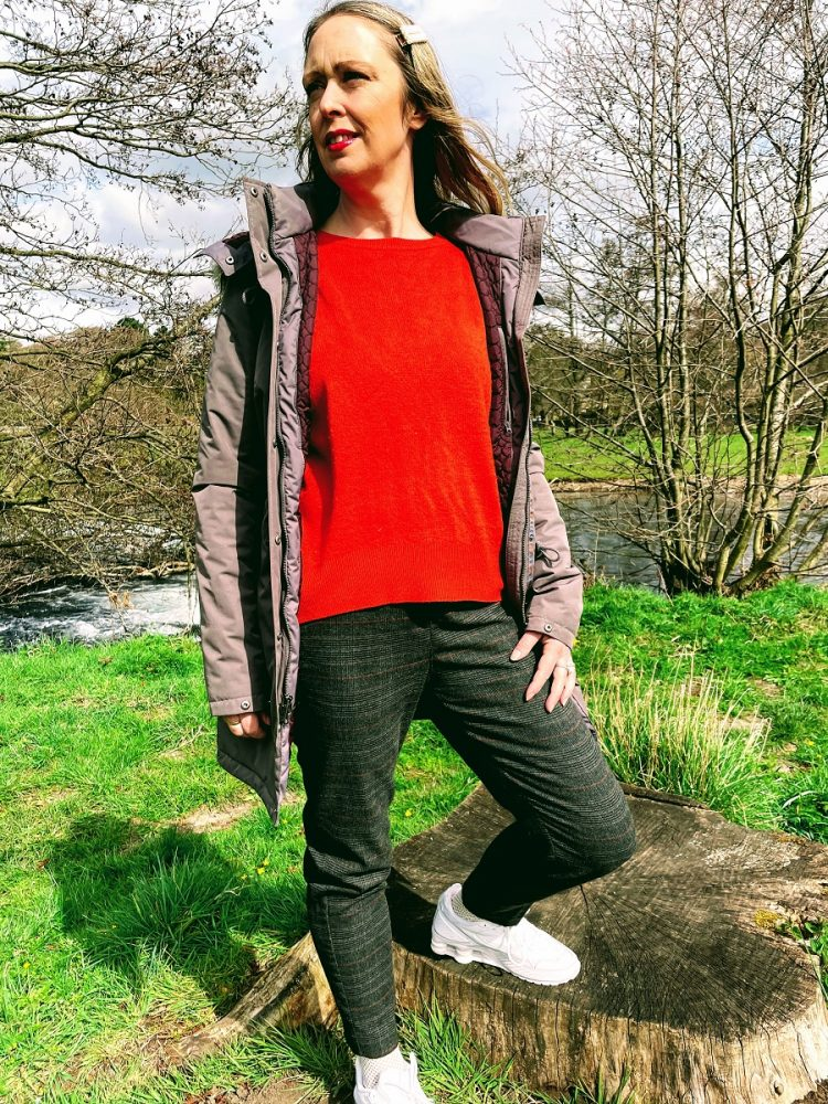 The North Face Coat, Primark Jumper And Tu Clothing Trousers For A Walk In The Country: