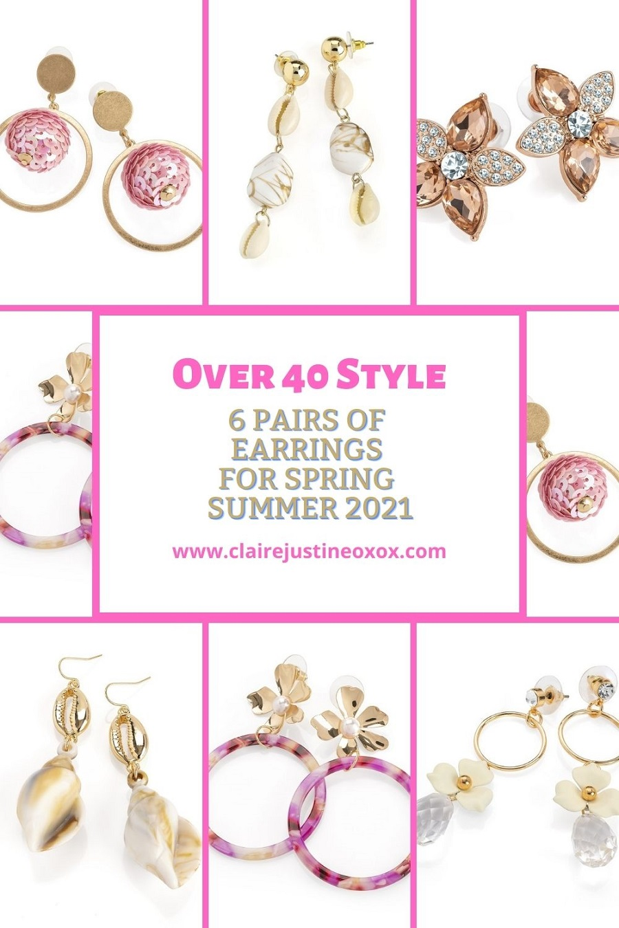6 Pairs Of Earrings For Spring Summer 2021