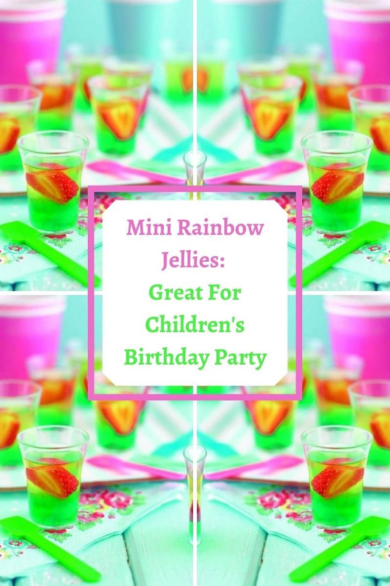 Mini Rainbow Jellies: Great For Children's Birthday Party